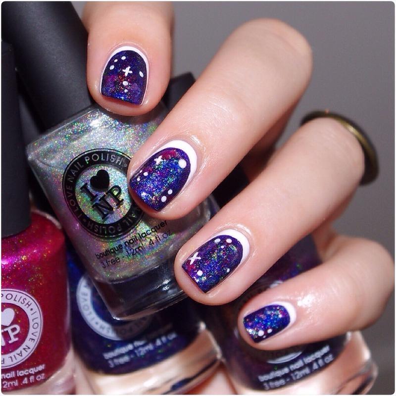 Ruffian Galaxy. nail art by Bulleuw