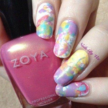 Pastel Splatter nail art by Victoria Lynn