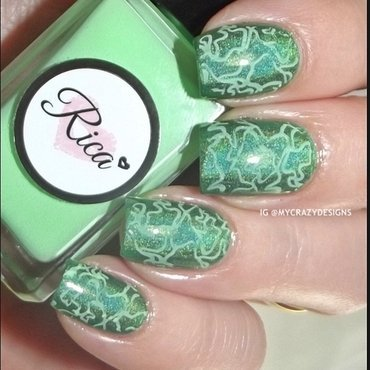 Stamping with Rica nail art by Mycrazydesigns