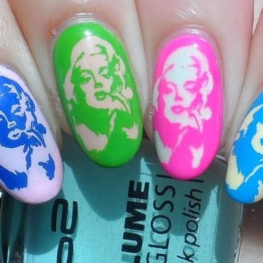 Pop Art nail art by Plenty of Colors