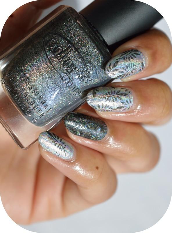 Holo stamping nail art by MimieS Nail