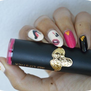 Comme une pin-up ! nail art by MimieS Nail