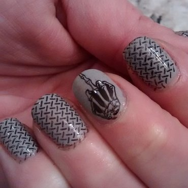 Omage to Snow Storms nail art by Sunny