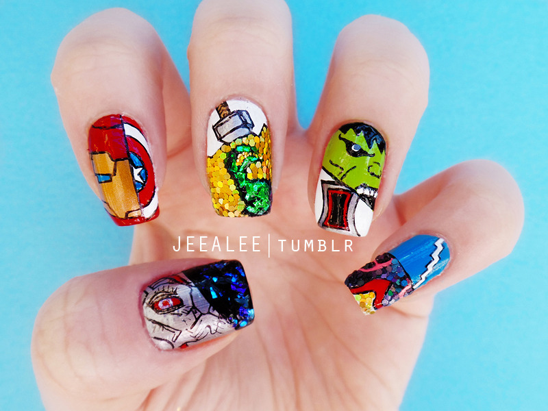 The Avengers: Age of Ultron Nails nail art by JeeA Lee - Nailpolis ...