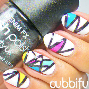 Colourful Zig Zag Nails  nail art by Cubbiful