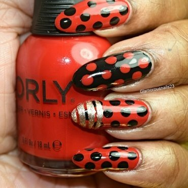 Marc Jacobs Dot nail art by glamorousnails23