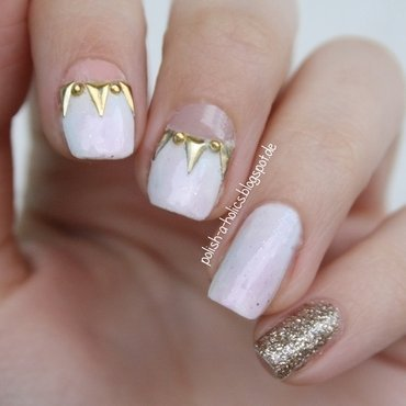 Studded Cut Out Nails nail art by katharinapeskelidou