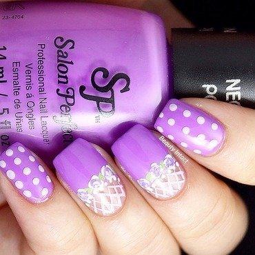Purple POP! nail art by Beauty Intact