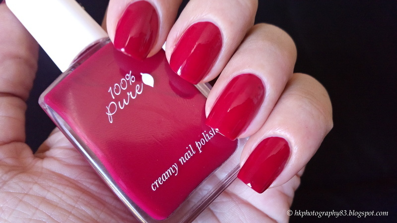100% Pure Cherry Pop Swatch by Hana K.