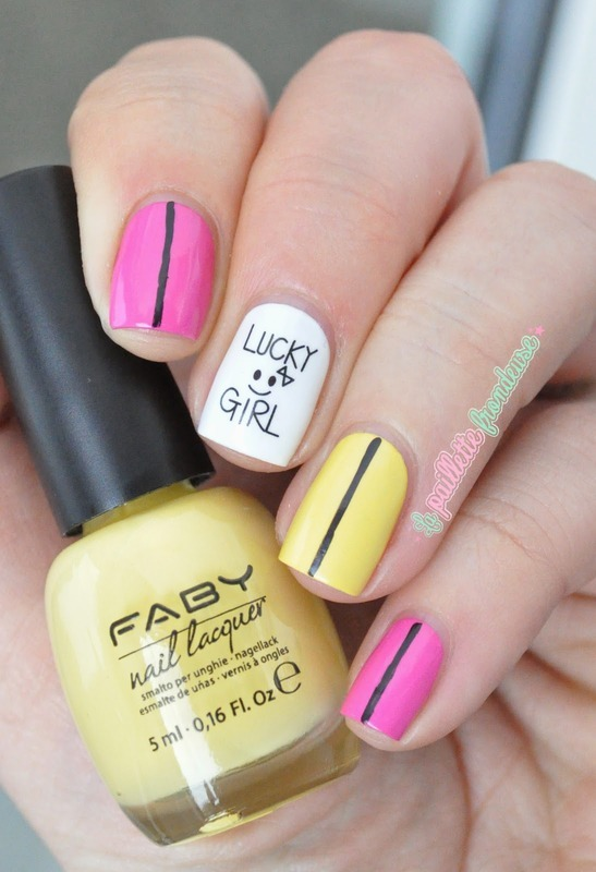 Lucky girl ! Kawaii nails nail art by nathalie lapaillettefrondeuse