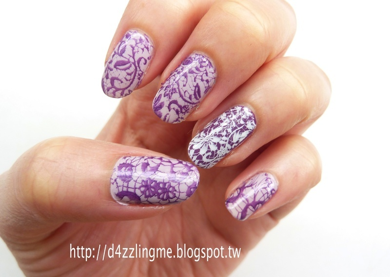 Lace Nails  nail art by D4zzling Me