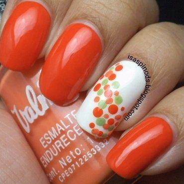 #RETO31DIAS2015 DÍA 2 - Naranja nail art by Isabel