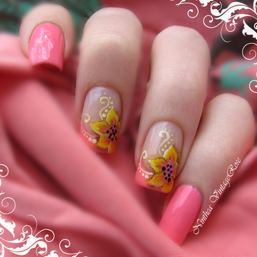 Floral nal art nail art by Ninthea