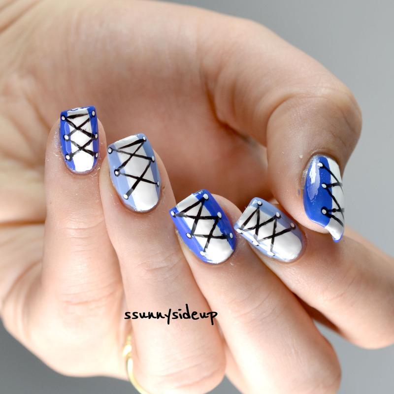 Sneaker nails nail art by ssunnysideup (Sabrina)