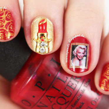 Classy with Marilyn nail art by Robin