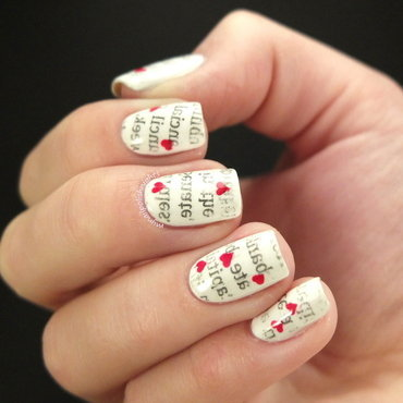 Love letters nail art by Anna Malinina