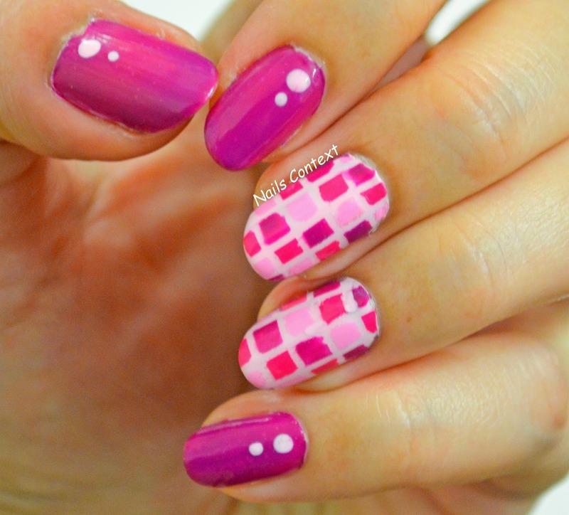 Checkered Nails nail art by NailsContext