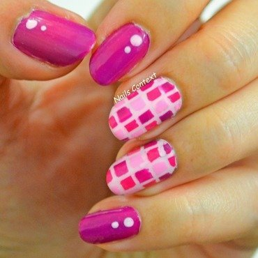 Checkered Nails nail art by NailsContext