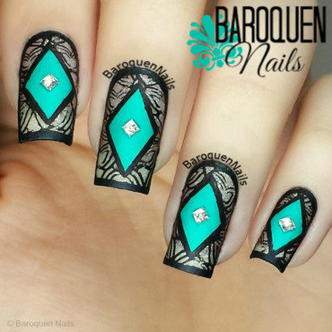Moroccan Appeal nail art by BaroquenNails