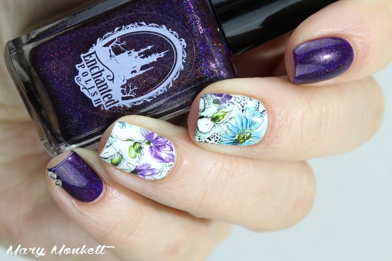 Novembre enchanté nail art by Mary Monkett