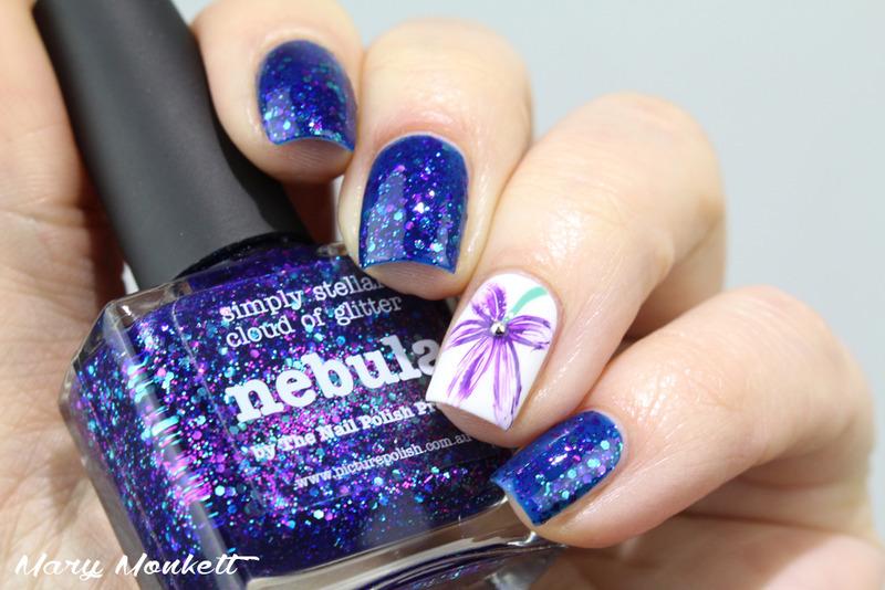 Nebula nail art by Mary Monkett