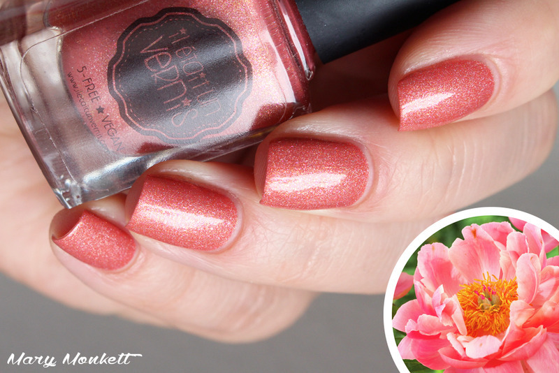 Il était un vernis paeonia Swatch by Mary Monkett