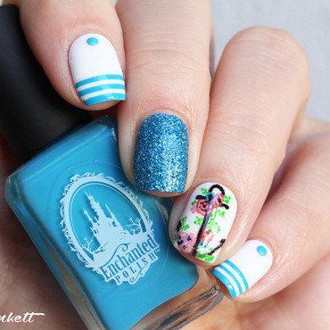 Marinière nail art by Mary Monkett