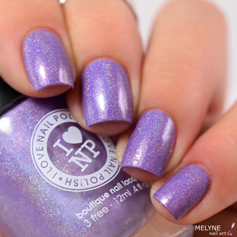 I Love Nail Polish Charmingly Purple Swatch by melyne nailart