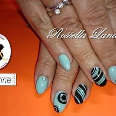 ottica green nail art by Rossella Landi