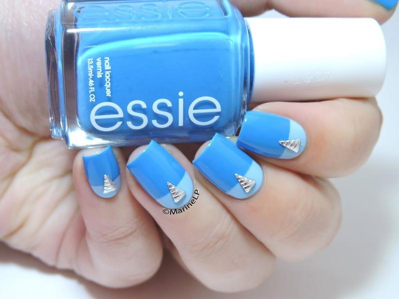 Easy graphic nails nail art by Marine Loves Polish