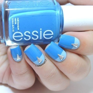 Easy graphic nails nail art by Marine Loves Polish