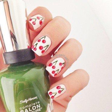 Cherry On Top nail art by Alina E.