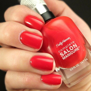 Sally Hansen all fired up Swatch by Anna Malinina