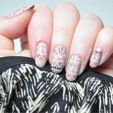Sleepy aztec nail art by GlitterMySocksOff