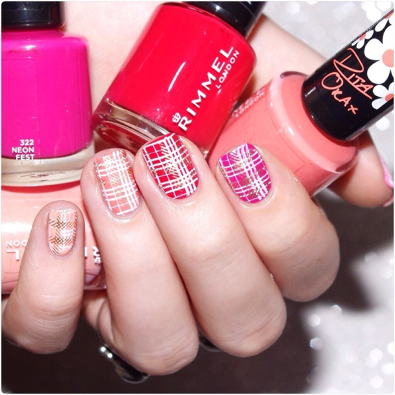 Pink spring. nail art by Bulleuw