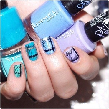 Blue spring. nail art by Bulleuw