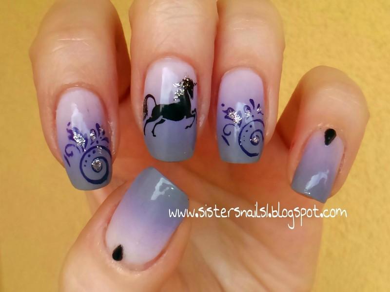 Land of Unicorn nail art by Marzena