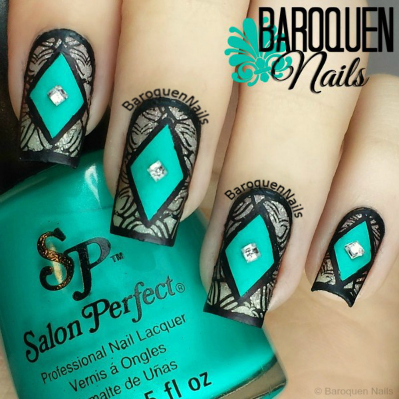Moroccan Appeal II nail art by BaroquenNails