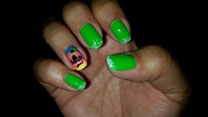 Cinco de Mayo mani nail art by HighTech