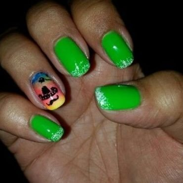 Cinco de Mayo mani nail art by HighTech