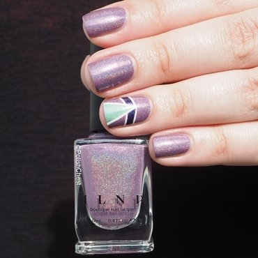 Dreaming in Violet nail art by Danny