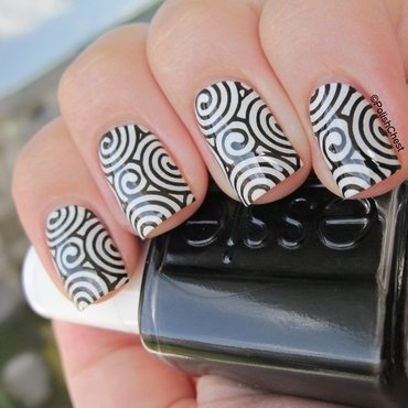 White Licorice nail art by Danny