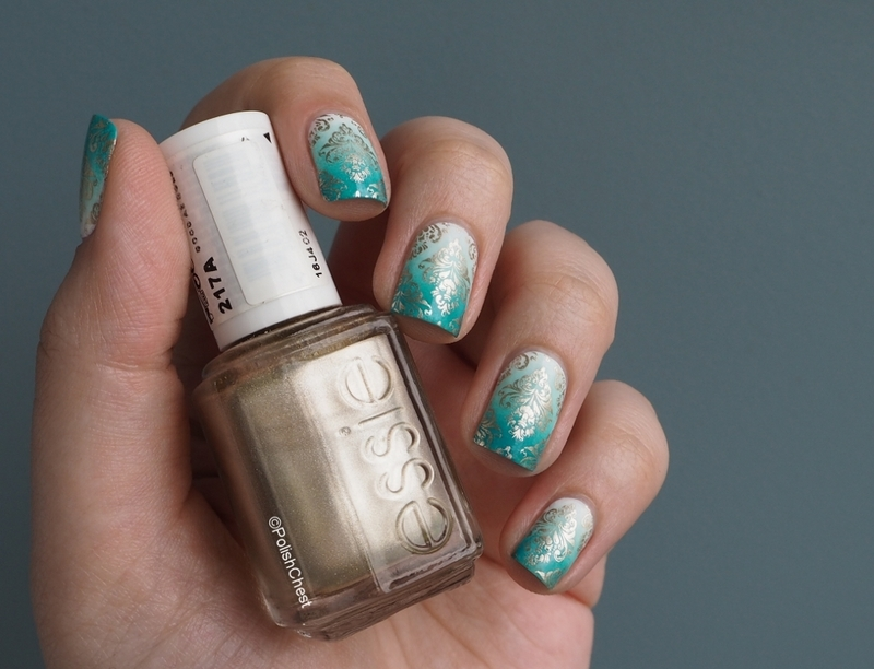 Turquoise Awesomeness nail art by Danny