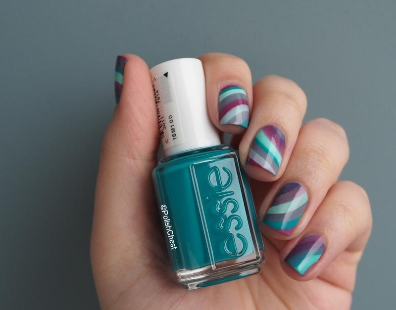 essie Flowerista Marble nail art by Danny