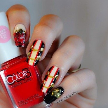 Rock Circus nail art by Love Nails Etc