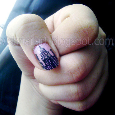 SKYLINE nail art by Wish Mrt'xa