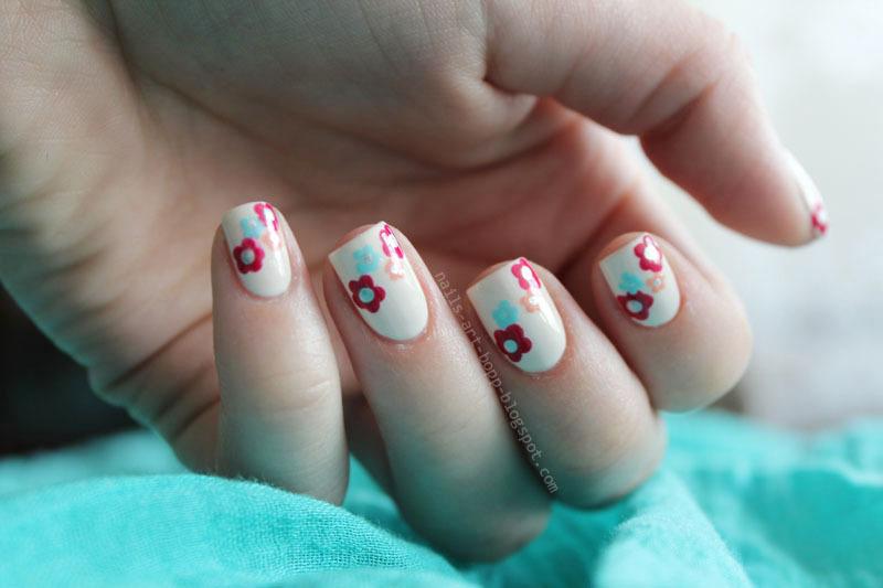 Flower power :)  nail art by bopp