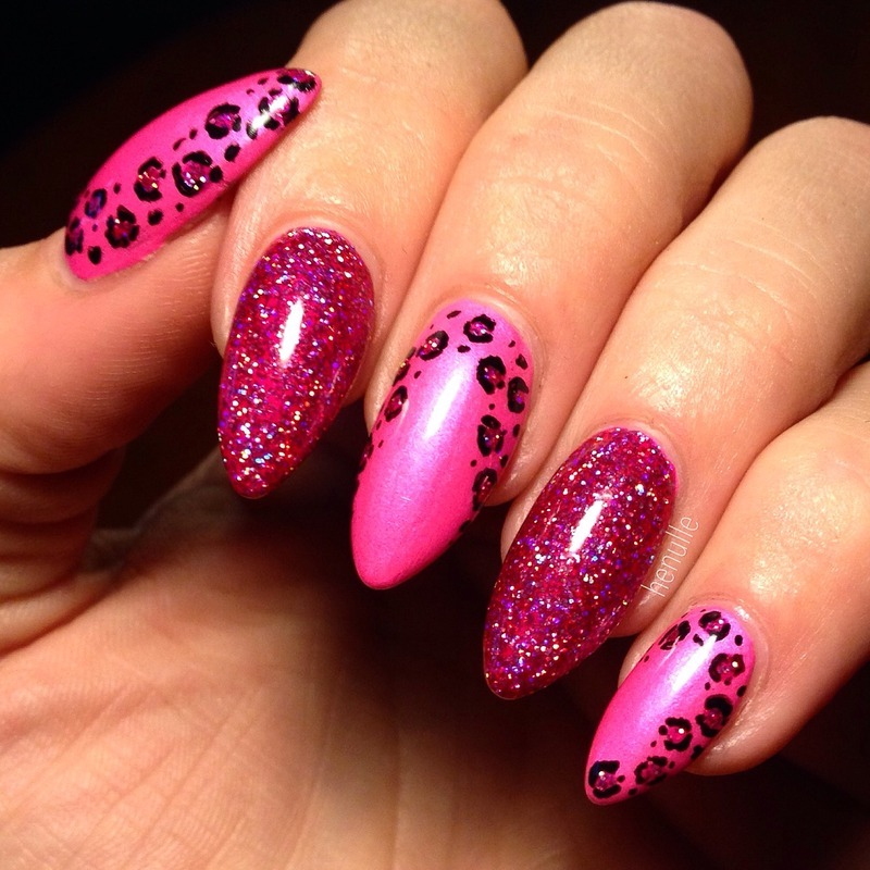 Glittah Cheetah  nail art by Henulle