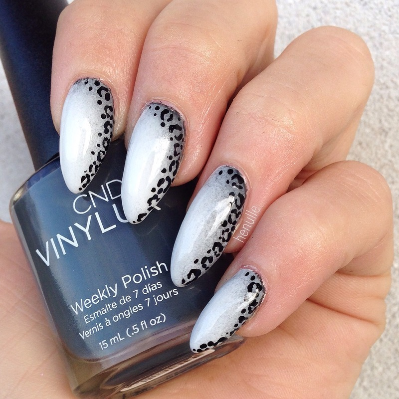 Cheetah gradient nail art by Henulle