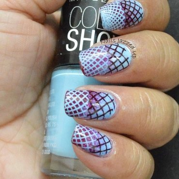 Reverse Gradient Stamping nail art by Divya Pandey
